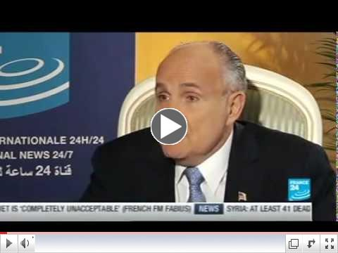 france24- Rudy Giuliani -Iranian Gathering- Paris-June 23 2012