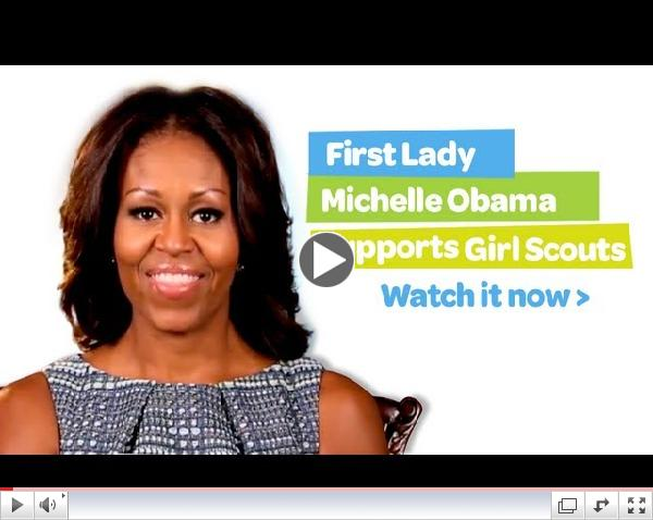 First Lady Michelle Obama supports Girl Scouts