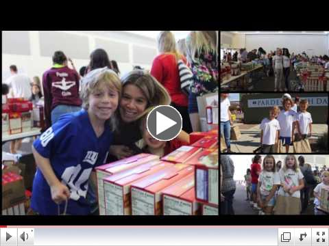 2016 Families Giving Back Thanksgiving Meal Bag Assembly Event