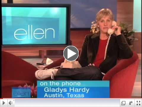 Image of Ellen Degeneres on the phone