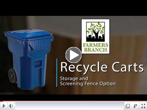 Storage & Screening of Recycling Carts