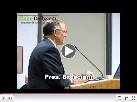NDSU Pres Bresciani Before ND State Legislators