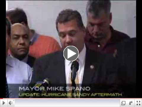 Mayor Mike Spano at Today's Sandy Recovery Update