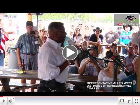 Congressman Allen West at the Broward Republican Party's Grand Old Party BBQ
