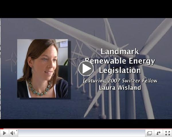 Landmark Renewable Energy Legislation with Switzer Fellow Laura Wisland