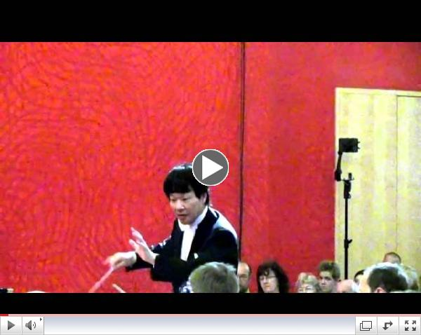 HIDEAKI HIRAI conducts Mozart Symphony No 35 Haffner 2nd movt excerpt