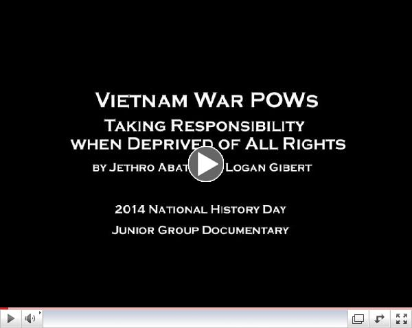NHD 2014 - Vietnam POWs Taking Responsibility when Deprived of All Rights (m)