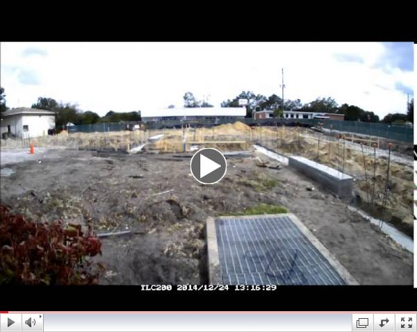 Time Lapse Video Haines City New Fire Station - Utility View