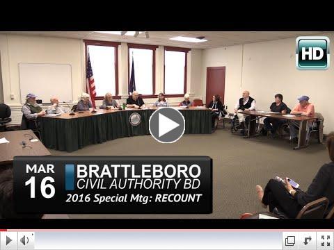 Complete video of Brattleboro Civil Authority Board Meeting