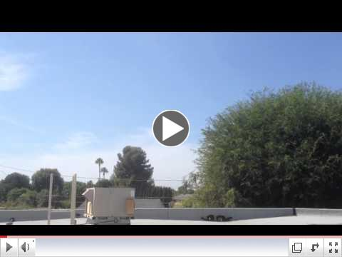 Space Shuttle flyby of North Tustin