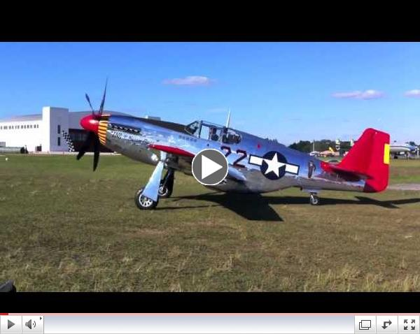 Red Tail P-51C Mustang on Take-Off