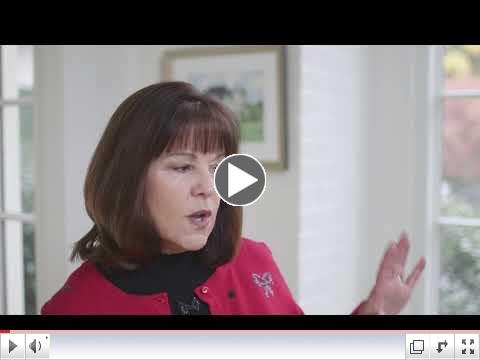 Karen Pence explains the importance of the military tree at the Vice President's residence.