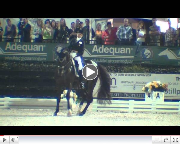 Watch the CDI 5* Freestyle winning ride from Tina Konyot and Calecto V!