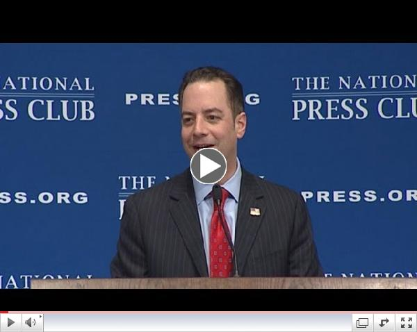 RNC Chairman Reince Priebus at The National Press Club