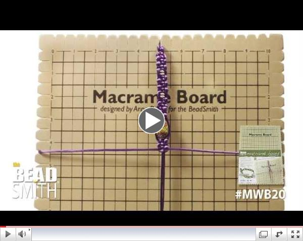 Now in Stock the new Macrame Board from Beadsmith $12.00