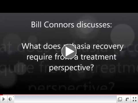What does aphasia recovery require from a treatment perspective?