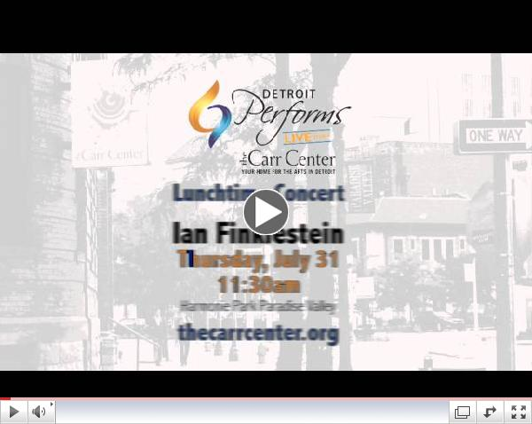 DETROIT PERFORMS LIVE AT THE CARR CENTER PROMO Ian FInklestein