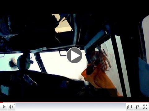Watch passenger plane crash in desert