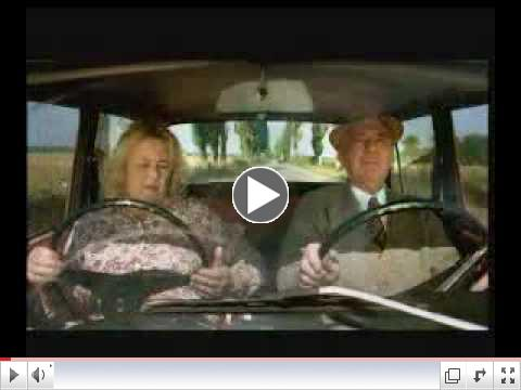 Funny Old Woman- extra steering wheel !!!