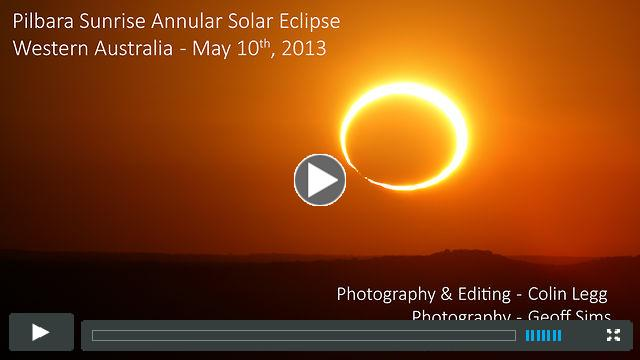 Ring of Fire - May 10 2013 Annular Solar Eclipse, Pilbara, Western Australia