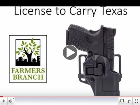 FBPD 'Open Carry Law' Meeting Presentation