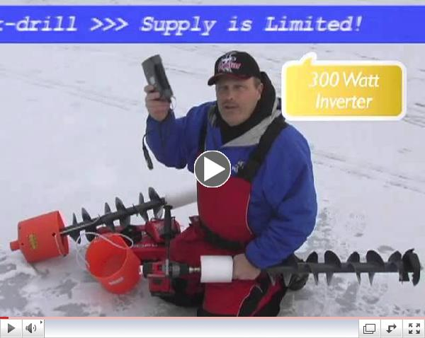 The K-Drill Electric Ice Auger System