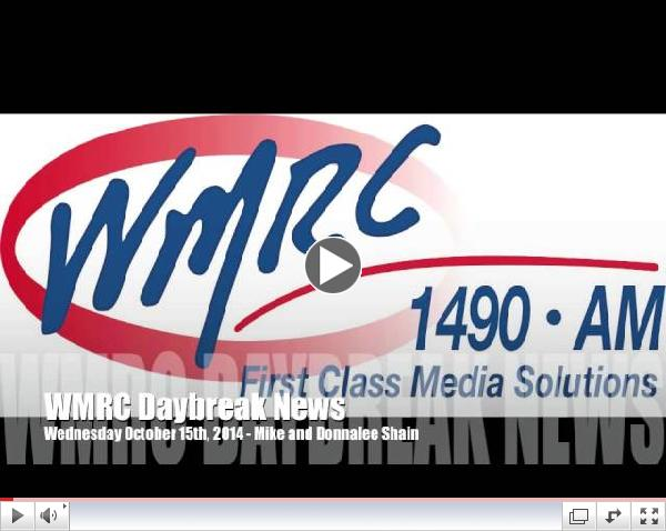 WMRC Daybreak News - Mike and Donnalee Shain Talk About Family Fun Walk, Thanks to Yanks and Pumpkin Walk