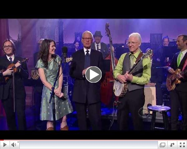 [HD] Steve Martin & Edie Brickell - When You Get to Asheville - David Letterman 4/23/2013