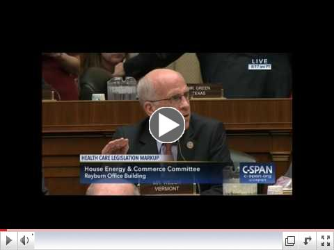 Rep. Welch's Opening Remarks at the E&C Committee Markup of AHCA