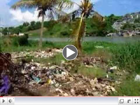 The favela 'La Cie'naga'in Haiti