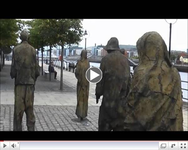 Charlie Adams video on the Potato Famine Memorial in Dublin, Ireland