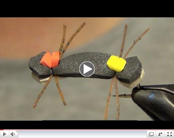 Chernobyl Foam Ant Fly Tying Instructions and Tutorial