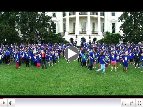First Lady Michelle Obama Kicks Off Jumping Jacks Challenge
