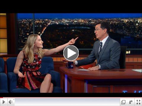 Saoirse Ronan teaching an Irish accent to Stephen Colbert