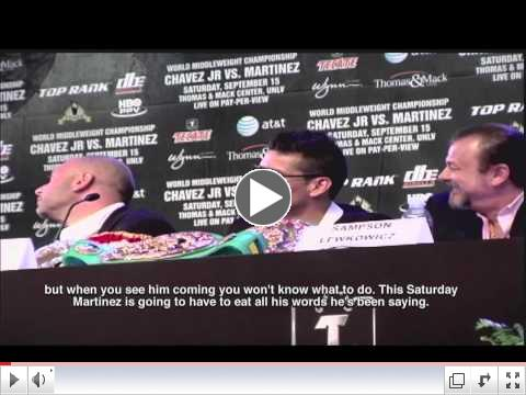 Chavez Jr and Martinez had their final presser