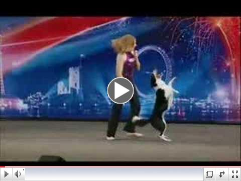 BGT-Kate Nicholas & Gin 1st audition, canine freestyle