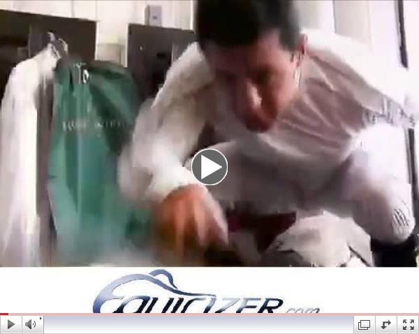 Jockey Victor Espinoza Warms Up on the Equicizer