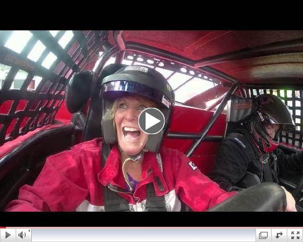 Berlin Raceway - Maranda takes The Ride of a Lifetime