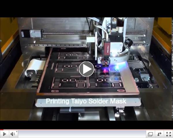 Taiyo's Inkjet Solder Mask Applied with Meyer Burger's PIXDRO IP410 Printer