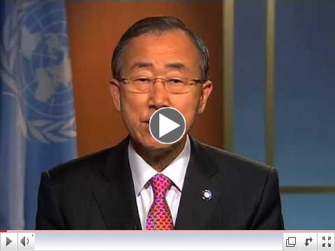 �varp Ban Ki-moon framkv�mdastj�ra Sameinu�u �j��anna � tilefni af Matv�ladeginum.