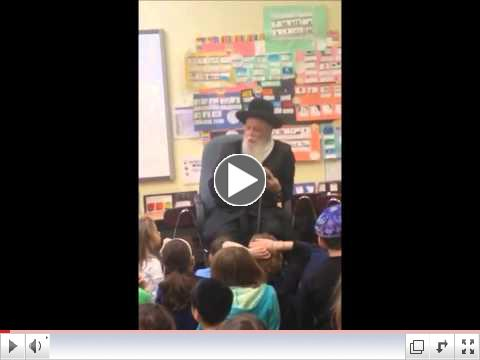 The Bostoner Rebbe Visits Hillel Academy