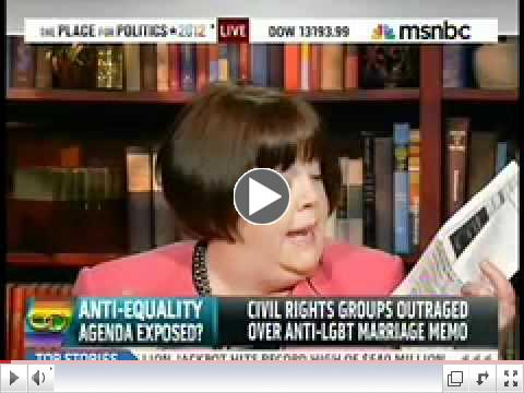 MSNBC: Anti-Equality Memos Exposed