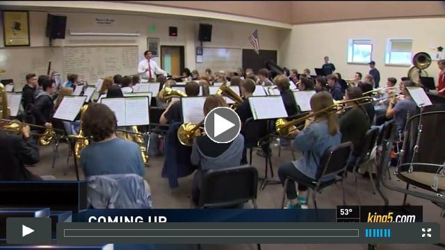 Wind Ensemble - King 5 News   Wednesday, April 5, 2017   4:00, 5:00 & 6:30pm news segments