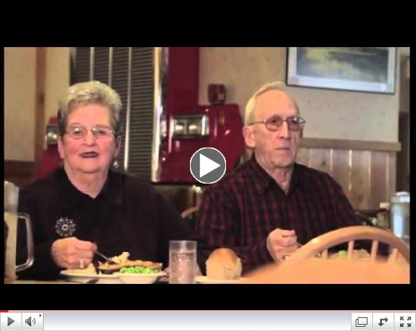 Hilarious elderly couple shoots a commercial