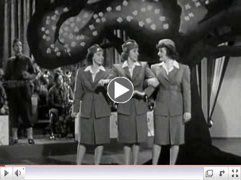The Andrews Sisters - Don't Sit Under the Apple Tree (from the 1942 movie Private Buckaroo)