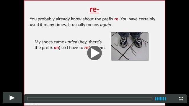The prefix RE
