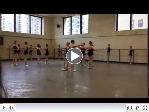 NHB students in ballet class with Daniel Ulbricht