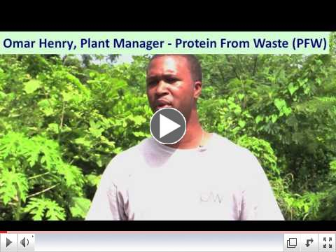Omar Henry, Plant Manager, Protein From Waste - Grenada