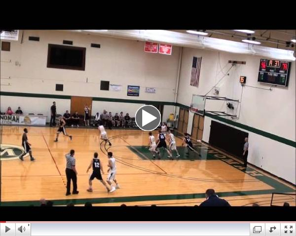 Stevie Sansone hits a three in transition for Multnomah University