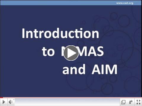 Introduction to NIMAS and AIM